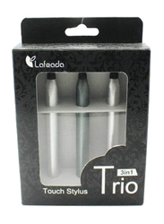 Lafeada Stylus Pen Family Pack for Tablet, Silver/Black