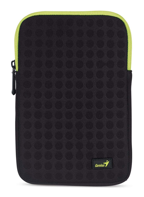 Genius Tablet PC 7-inch Polyester Portable Bubble Sleeve Bag, GS-721, Black/Green