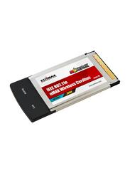 Edimax Nmax 300Mbps 2T3R Wireless 802.11n Draft 2.0 32-Bit Cardbus Adapter, EW-7708PN, Black