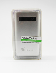 Lafeada 6000mAh Safari-6000 Lite Powerbank Universal Power Pack, Silver