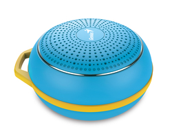 Genius Bluetooth Speaker Sp-906Bt, 5 Hours Play Time, 500Mah Battery With Carabiner for Mobile Phones, Bright Blue