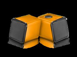 Divoom Iris-02 2.0 Channel Stereo Speakers system, Orange