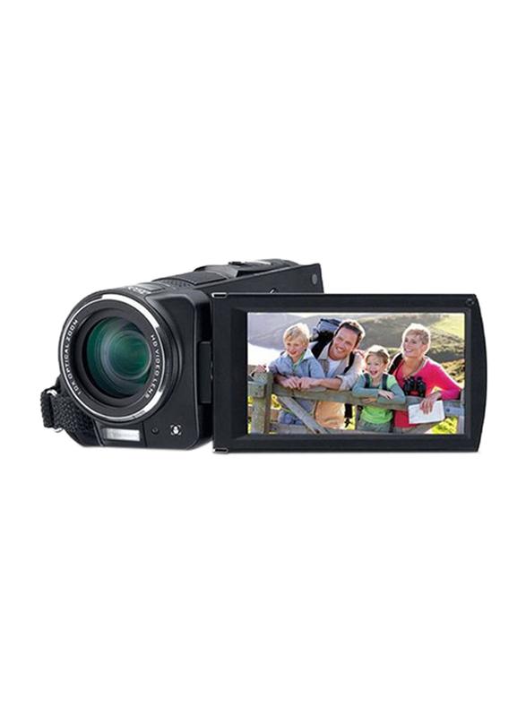 Genius G-Shot HD1080T Camcorder with AF 6-60mm Lens, 10 MP, Black