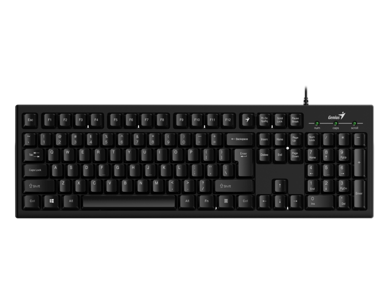 Genius  KB-100 USB Smart Keyboard  with User Customise F Keys, Black