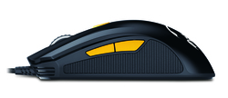 Genius M8-610 Scorpion Laser Mouse, Black and Orange
