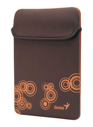 Genius Tablet PC/iPad Mini/iPad 10-inch Polyester Waterproof Sleeve Bag, GS-1001, Brown/Orange