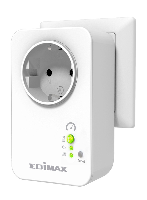 Edimax SP-2101W-UK Smart Plug Switch with Power Meter Intelligent Home Energy Management (UK-PSU), 15A, White