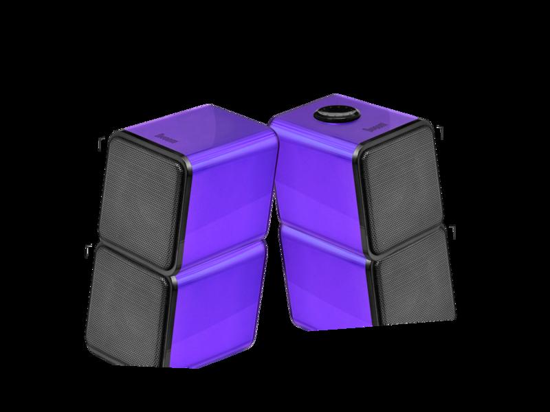 Divoom Iris-02 2.0 Channel Stereo Speakers system, Purple