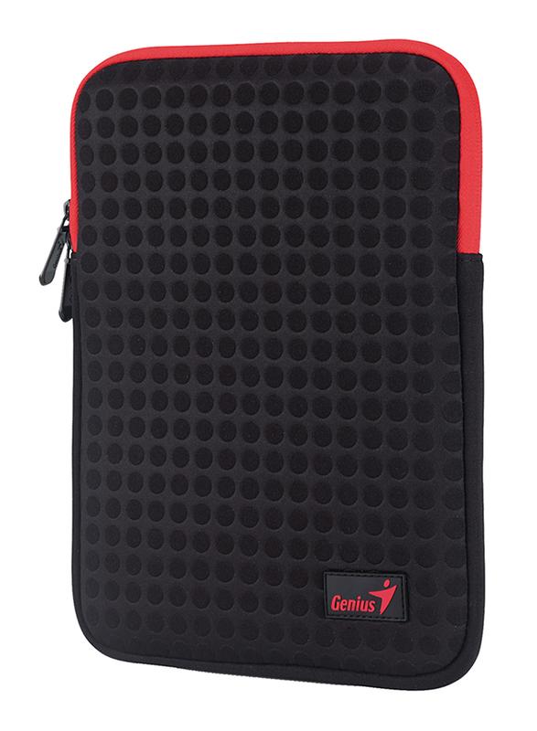 Genius Tablet PC/iPad Mini/iPad 8-inch Polyester Sleeve Bag, GS-1021, Black/Red