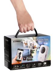 Edimax IC-3140W-UK HD Wireless Day & Night Network Camera, (UK PSU), White