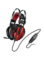 Genius GX HS-G710V USB Cable Over-Ear Gaming Headphones, with Mic, Black