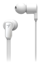 Genius HS-M260 In-Ear Stereo Headphones with Mic, White