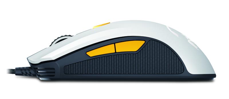 Genius M8-610 Scorpion Laser Mouse, White and Orange