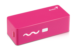 Genius 2600mAh Eco-U261 Compact Size Powerbank with 4 Led Indicator, Pink
