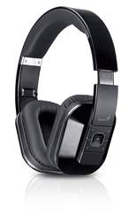Genius HS-970BT Over Ear Wireless Headset, Black