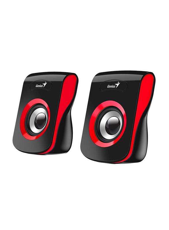 Genius SP-Q180 USB Speaker, Red