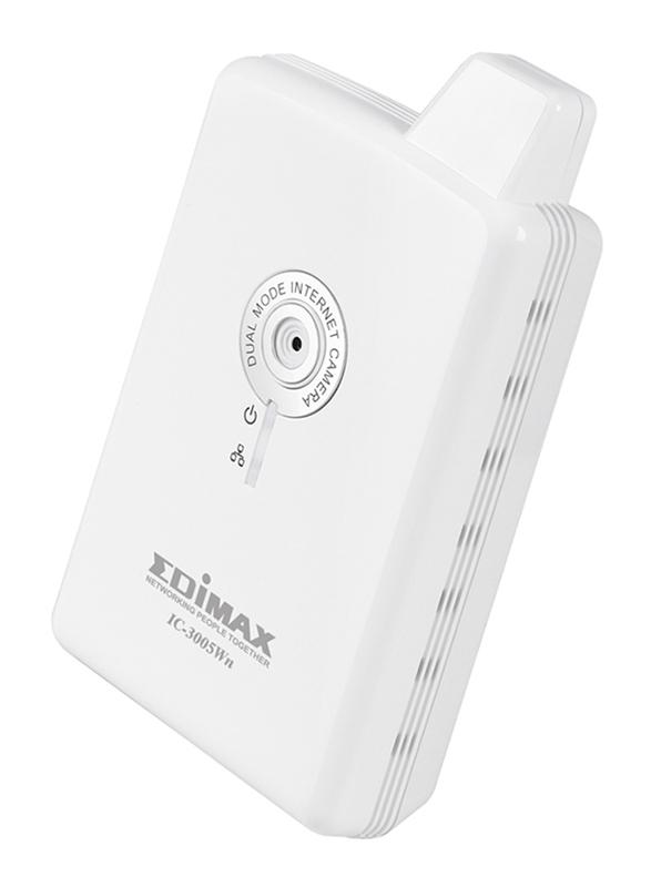 Edimax IC-3005Wn-UK 150Mbps Wireless 802.11n Dual Mode IP Camera with 0.3 MP, (UK PSU/E.EU), White