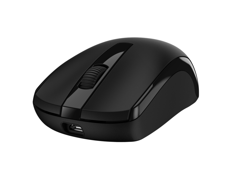 Genius MH-8100 Wireless Mouse With Headset, Black