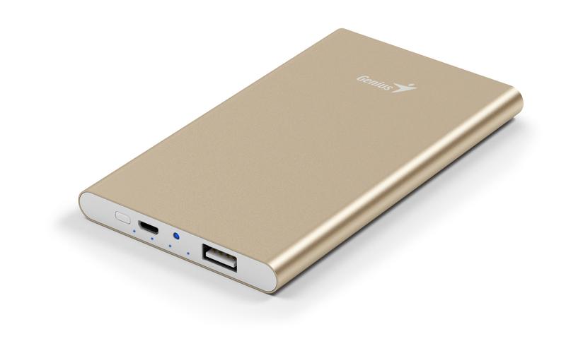 Genius 5400mAh Eco-U540 Powerbank , Gold