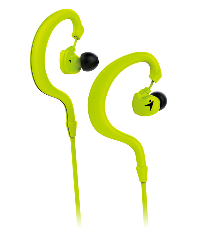 Genius HS-M270 Ruggedness and Sweat Resistant In-Ear Headset with Mic, Green