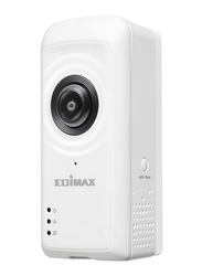 Edimax IC-5150W-UK Smart Full HD Wi-Fi Fisheye Cloud Camera with 180-Degree Panoramic View, 2 MP, White