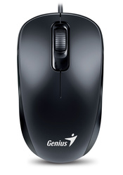 Genius DX-110 Classic 3-Button USB Mouse,1000 DPI G5, WITH SMART GENIUS APP, Black