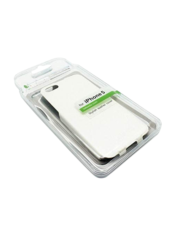 Lafeada Apple iPhone 5/5S PU Leather Mobile Phone Case Cover, Vertical Open, White
