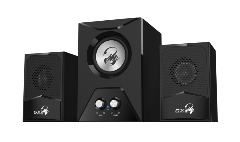 Genius Gx Subwoofer Sw-G2.1 500 Wooden Speakers, Rocket Subwoofer, 15 W Rms, With Bass Controls, Black