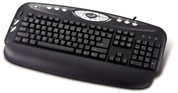 Genius KB-16E Multimedia Keyboard with Office Scroll for PC, Black