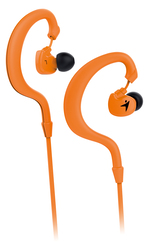 Genius HS-M270 Ruggedness and Sweat Resistant In-Ear Headset with Mic, Orange