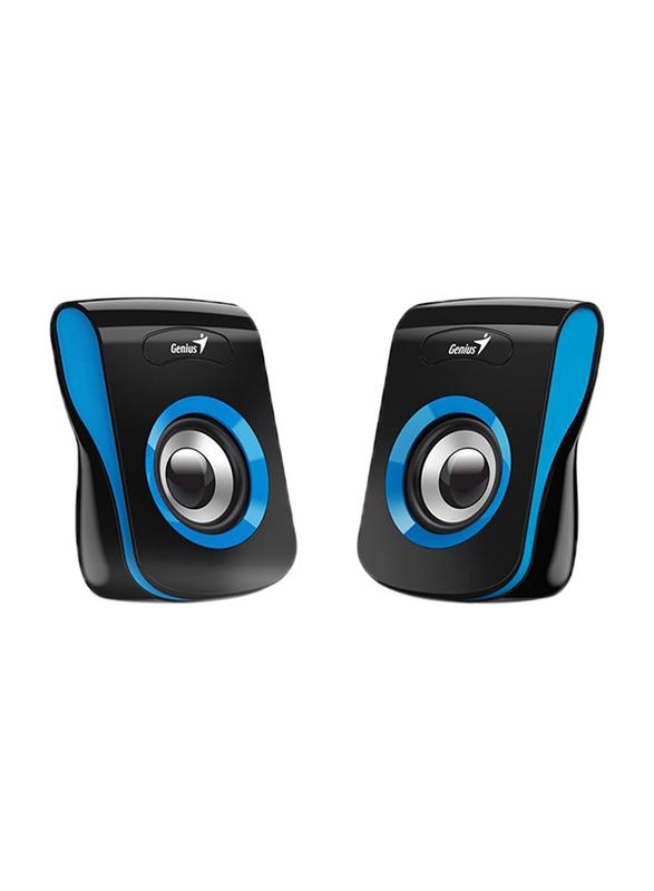 Genius SP-Q180 USB Speaker, Blue