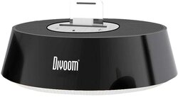 Divoom iBase-1 Dock Station Stereo Round Speaker Made for iPad, iPad 2, iPad 3, iPhone 4S, 4, 3GS, 3G, iPod Touch 1st, 2nd, 3rd, 4th Gen, Nano 6th Gen, Classic and Other Mobile AUX Cable Use, Black