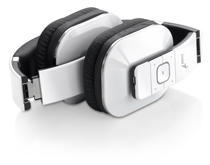 Genius HS-970BT Over Ear Wireless Headset, White