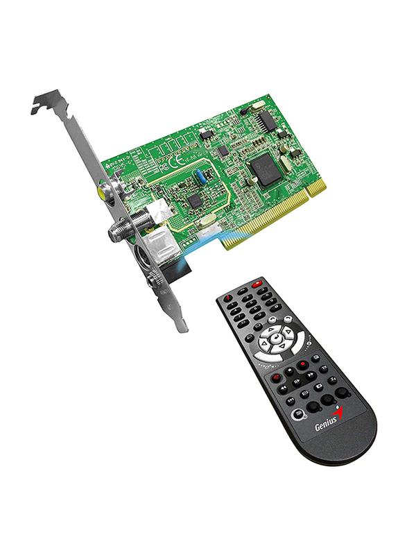 Genius TVGO A120 TV Tuner Card for PC, Green/Black
