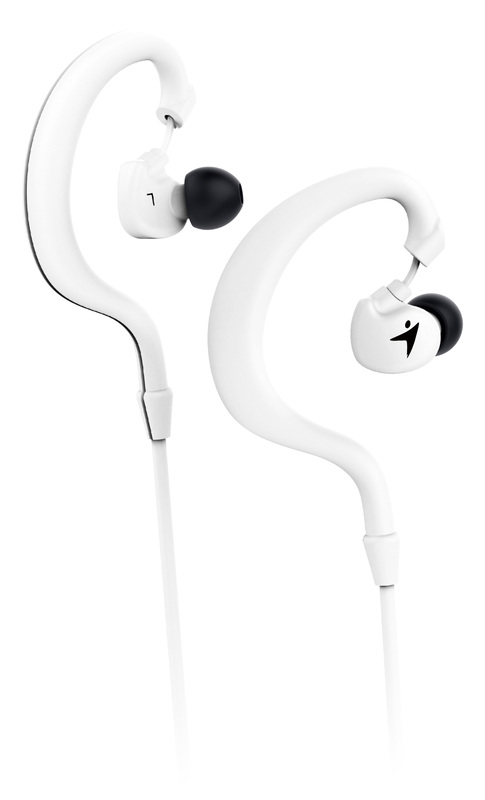 Genius HS-M270 Ruggedness and Sweat Resistant In-Ear Headset with Mic, White