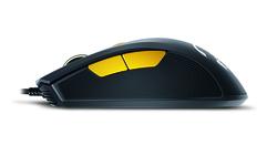 Genius M6-600 Scorpion Laser Mouse, Black and Orange