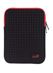 Genius Tablet PC/iPad Mini/iPad 8-inch Polyester Sleeve Bag, GS-1021, Black/Red