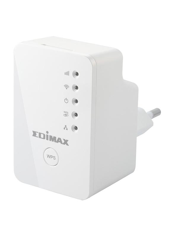 Edimax N300 Mini Universal Wi-Fi Range Extender/Access Point/Wi-Fi Bridge (UK), EW-7438RPN-M-UK, White
