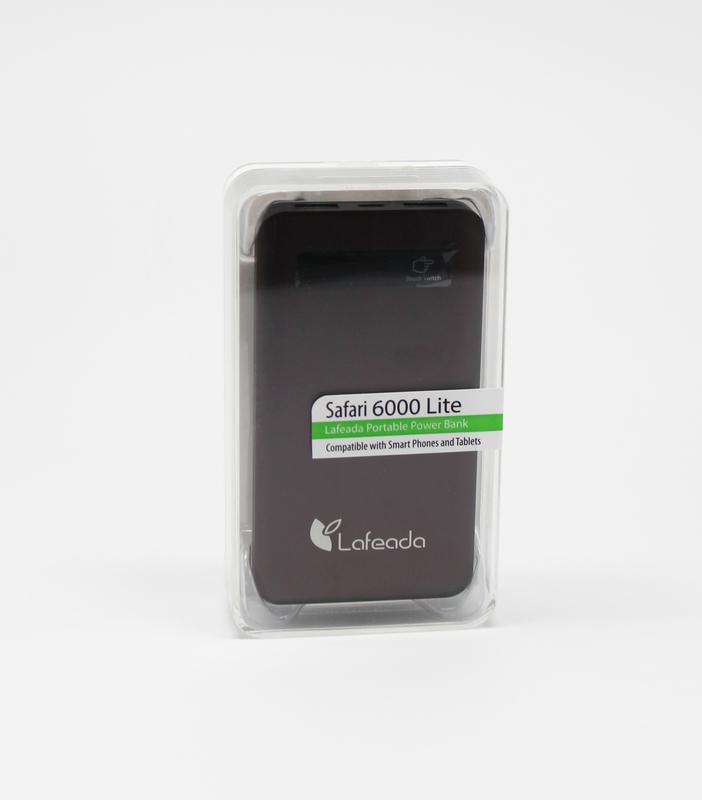 Lafeada 6000mAh Safari-6000 Lite Powerbank Universal Power Pack, Brown