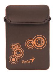 Genius Tablet PC/iPad Mini/iPad 8-inch Polyester Waterproof Sleeve Bag, GS-801, Brown/Orange