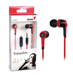 Genius HS-M225 In-Ear Headphones with Mic, Red