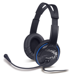 Genius HS-400A Over the Ear Headphones with Mic, Blue