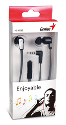 Genius HS-M260 In-Ear Stereo Headphones with Mic, Iron Grey