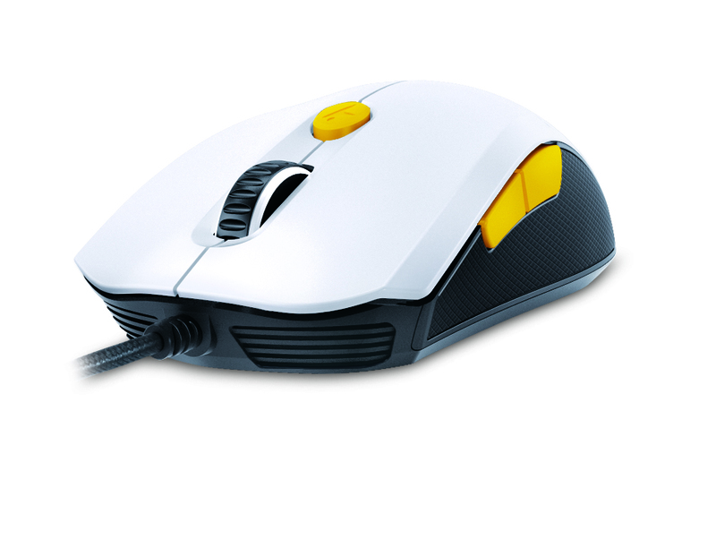 Genius M6-600 Scorpion Laser Mouse, White and Orange