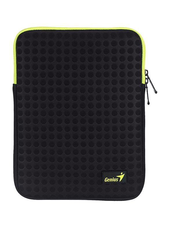 Genius Tablet PC/iPad Mini/iPad 8-inch Polyester Sleeve Bag, GS-1021, Black/Green