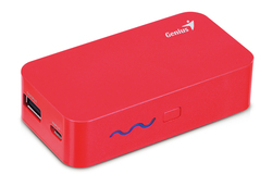Genius 5200mAh Eco-U521 Compact Size Powerbank with Led Display, Red