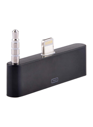 Lafeada Lightning Audio Support Adapter, 8-Pin/3.5mm to Lightning for Apple Devices, Black