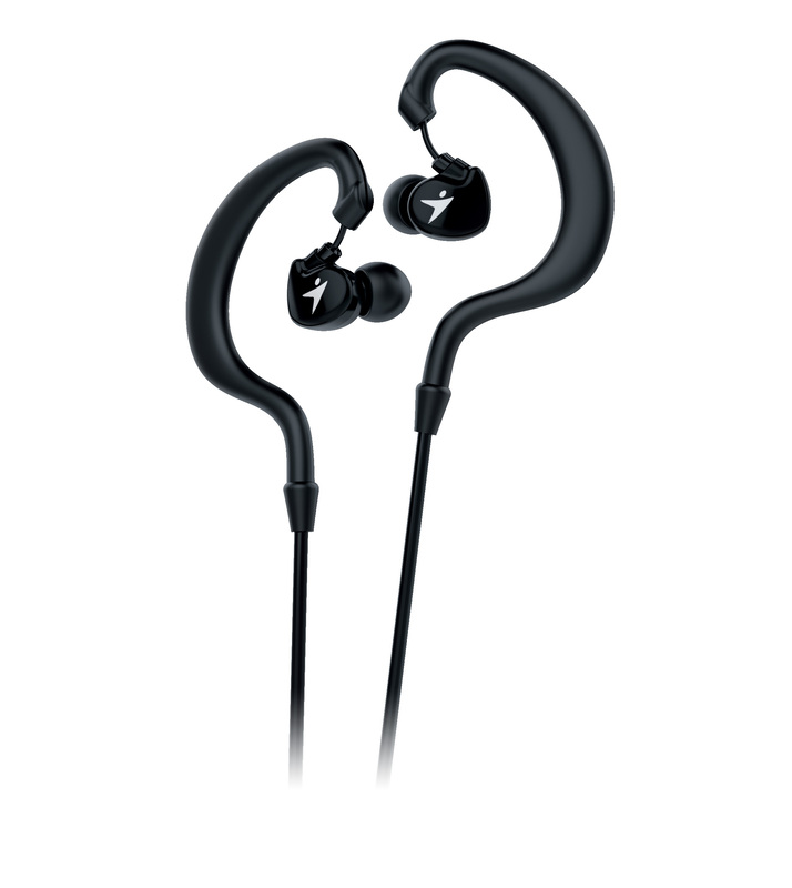 Genius HS-M270 Ruggedness and Sweat Resistant In-Ear Headset with Mic, Black