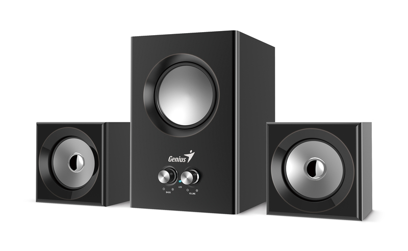 Genius Subwoofer Sw-2.1 370, Rocket Subwoofer, 8 Watts, Black