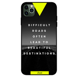 Zoot Apple iPhone 11 Pro Max Mobile Phone Back Cover, Difficult Roads